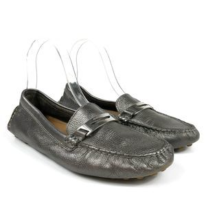 Coach Nola Warm Pewter Flat Driving Loafers Size 7